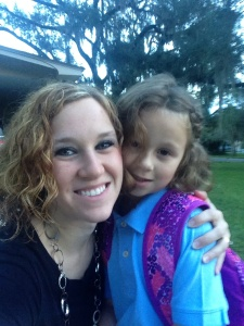 Kendyl & I on our walk to school!